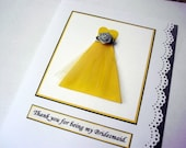 Will  you be my Bridesmaid Card Be my Bridesmaid Invitation Card Thank you Bridesmaid Card Sweetheart Cut Dress