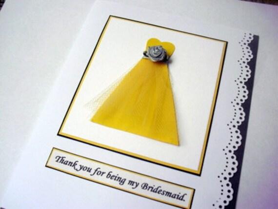 Will  you be my Bridesmaid Card,Ask Bridesmaid Proposal card,Wedding Party Proposal Card, Thank you Bridesmaid Card Sweetheart Cut Dress