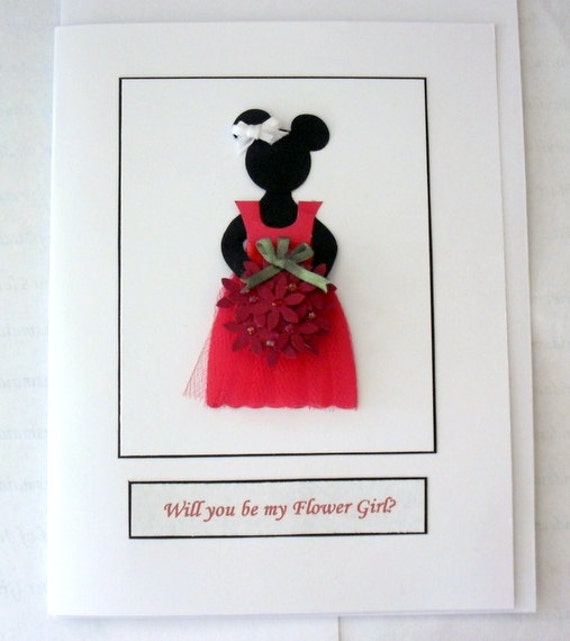 Disney Minnie Mouse Will You Be My Bridesmaid Flower Girl