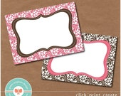 Printable Labels - Tags - Mini-Cards 4