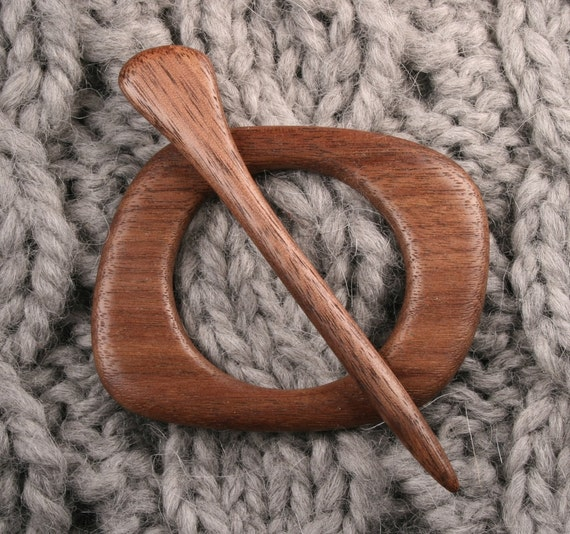 Black Walnut Shawl Pin Set