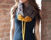 CUTE DRAWSTRING COWL WITH BOW