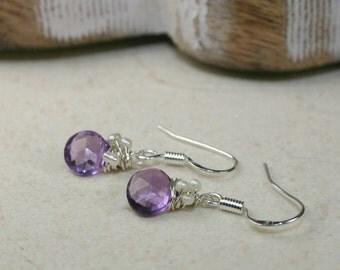 A Drop of Amethyst Earrings