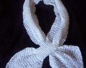 White Knit Scarf