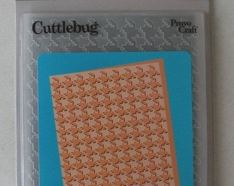 Cuttlebug Embossing Folder Houndstooth