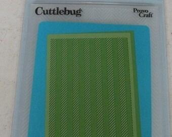 Provo Craft CuttleBug Embossing Folder, Herringbone