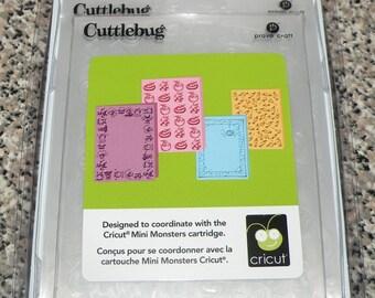 Provo Craft CuttleBug Embossing Folder Set of 4, Mini Monsters