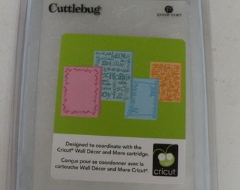 Provo Craft CuttleBug Embossing Folder Set of 4, Wall Decor and More