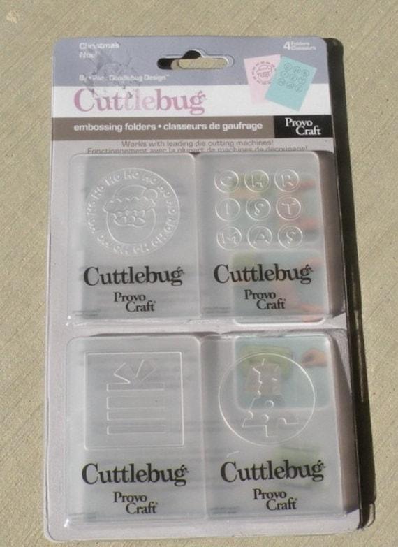 Provo craft cuttlebug embossing folders christmas noel for Www cuttlebug crafts com