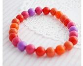 Beaded Bracelet - Boho Chic - Red Beaded Bracelet