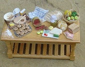 Miniature table, cookies and lunch 12th scale