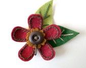 Magnetic Portuguese Knitting Pin - Deep Dark Red