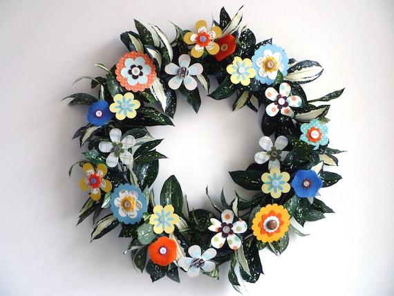 SALE: Paper Flower Wreath - All Season