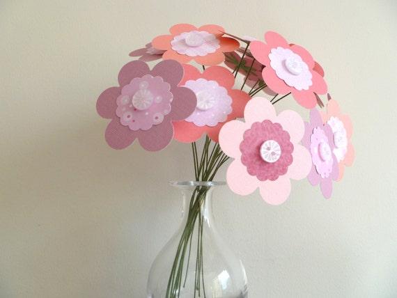 Paper Flower Bouquet - Pink Mix
