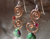 Copper Twirl Earrings...