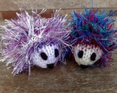 Reserved for sl37932 - two knitted hedgehogs