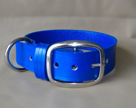 Custom 1.5 inch width Leather Collar with Choice of 16 Colors