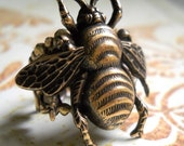 Large Brass Bee Ring