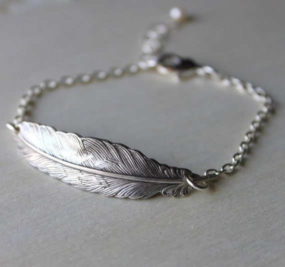 RESERVED for Niko- 2 Feather Wing Bracelets