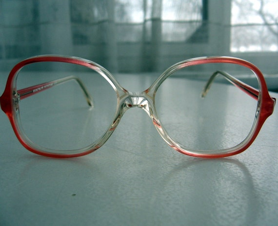 Glasses Frames For Big Face : TEEN Small Face Vintage 80s Big Eyeglasses Frames by Century