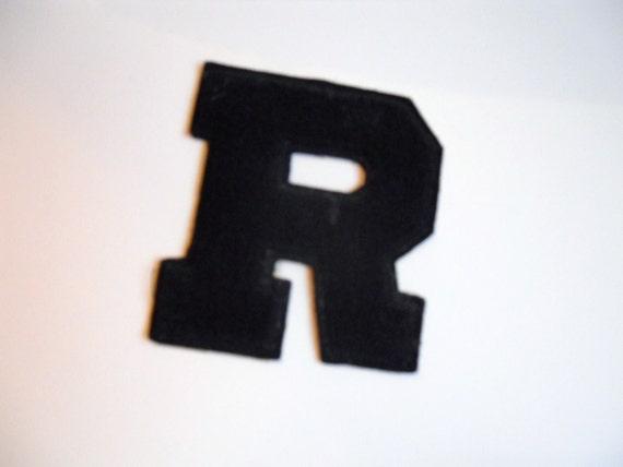 vintage letterman jacket letter R