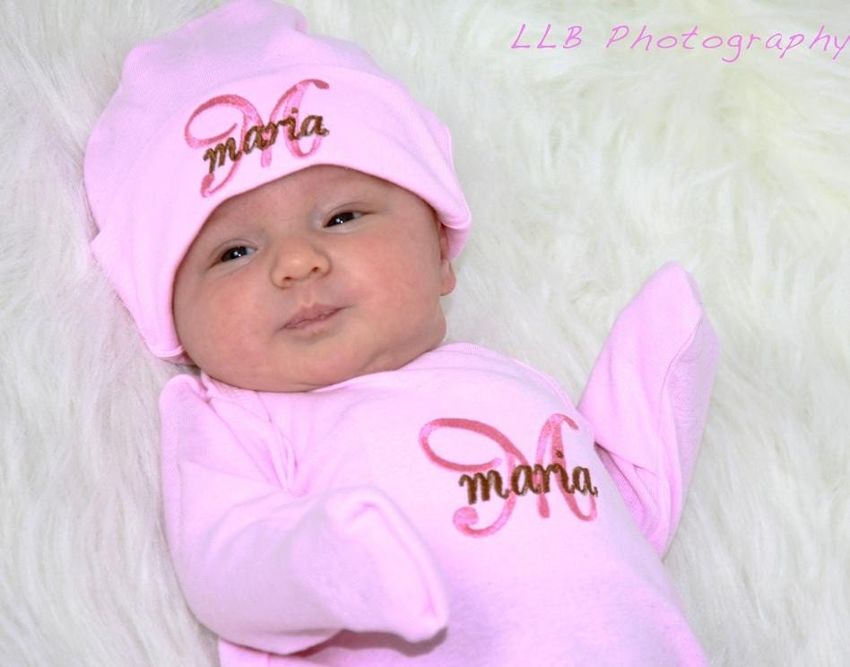 Baby Girl Coming Home Outfit Newborn Clothing Gown Sleeper