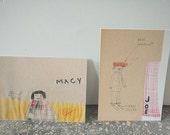 Joe and Macy postcard set