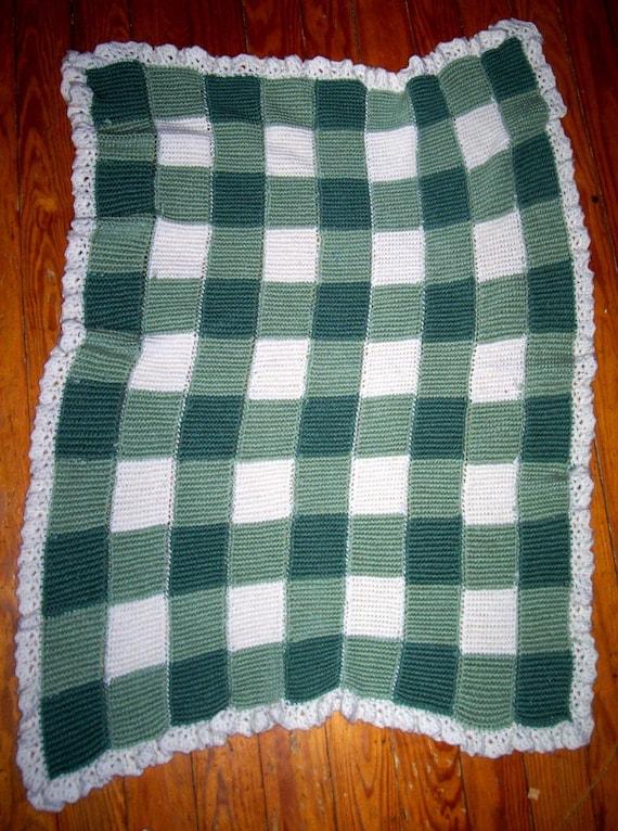 Gingham Afghan Crochet Pattern