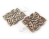 Rugged Wood Earrings