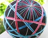 CLEARANCE - decorative ball home decor - hand embroidered  - japanese temari thread ball - fresh berries