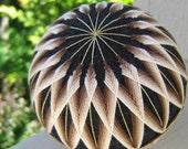 illusions of coffee - hand embroidered thread ball - japanese temari