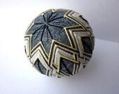 decorative ball -  japanese temari contemporary home decor - hand embroidered - executive