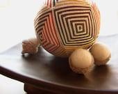 fiber art home decor - hand embroidered japanese temari thread ball