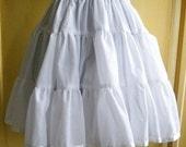 Plus Size White Cotton Petticoat - Lolita Teired Skirt- Victorian Steampunk - Custom to your size 2xl,3xl,4xl,5xl