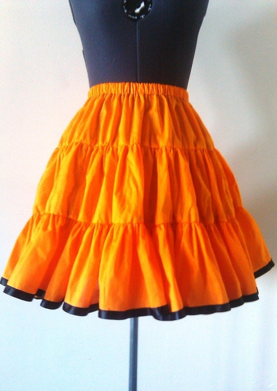 Halloween Skirt- Orange Petticoat  -Custom to your size