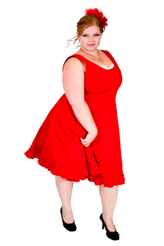 Items Similar To Plus Size Rockabilly Dress Vintage Style