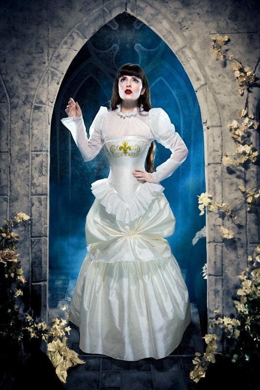 Steampunk Wedding Dress Victorian Bustle Gown By