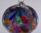 Blown Glass mosaic witch ball 6 inches FREE SHIPPING
