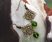 Victorian Green Earrings