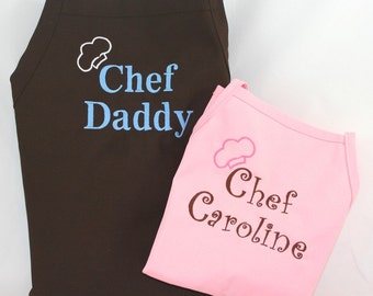 Personalized Daddy & Daughter Apron Set - Monogrammed Embroidered