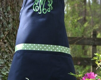 Monogrammed Gift Womens Apron Personalized Embroidered