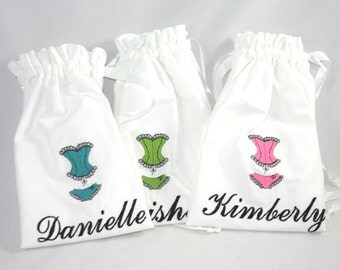 Personalized Lingerie Bag for Bride or Bridesmaids Gifts, Wedding Shower, Bridal Gift