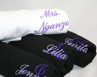 Monogrammed Purple Bridesmaid Robes, Bridesmaid Robes, Wedding, Gift for Her, Bridal Party Gifts