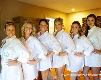 Oversized Bridesmaids Shirt Monogrammed Shirts Button Down