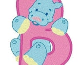 Instant Downloads - Embroidery Designs-Zoo Alphabet Machine Embroidery Designs
