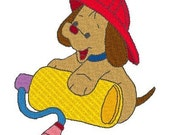 Instant Download- Embroidery Designs- Fireman Puppies Machine Embroidery Designs