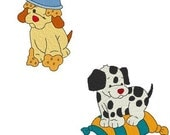 Adorable Puppies Machine Embroidery Designs, Puppy Embroidery Designs