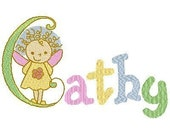 Instant Download - Embroidery Designs - Alphabet Fairies Machine Embroidery Designs