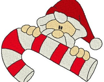 Candy Cane Peepers Machine Embroidery Designs