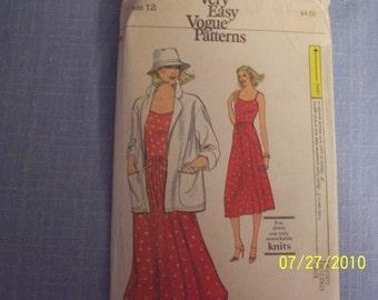 Vintage Vogue Dress Pattern Size 12